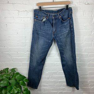 Levi's 505 Mid Rise Regular Fit Straight Leg Jeans